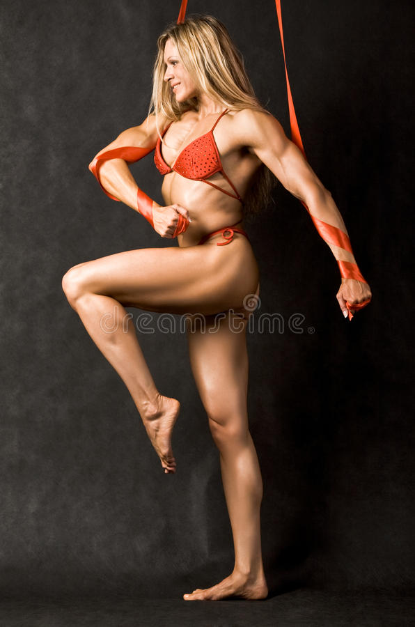 femelle de bodybuilder photographie stock