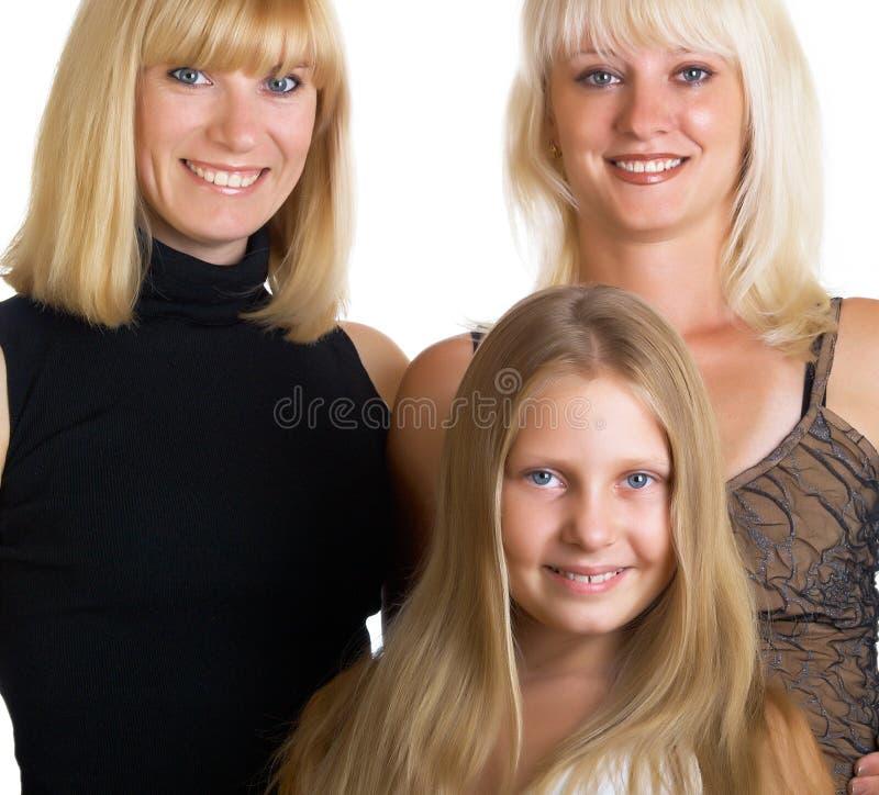 Femelle trois photo stock