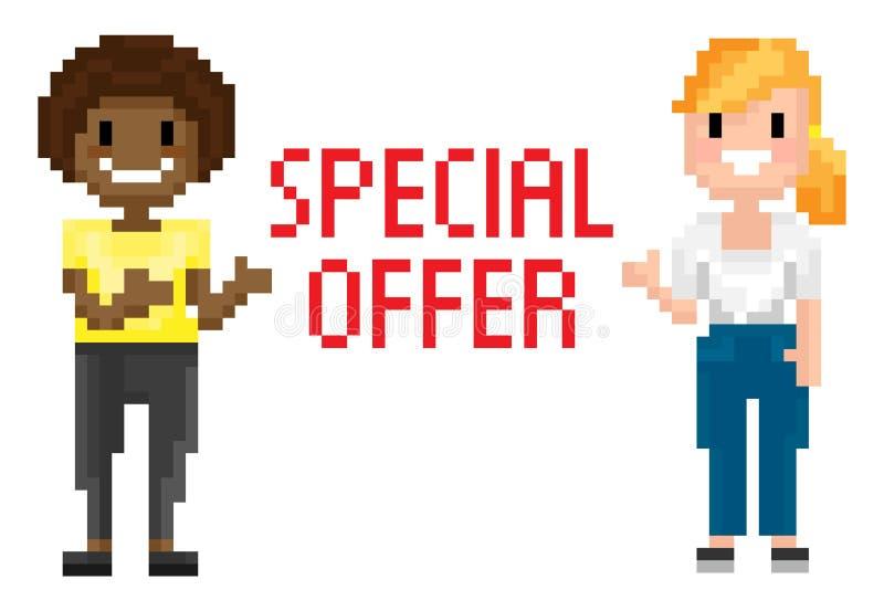 Femelles de tir, offre spéciale, vecteur de pixel illustration de vecteur