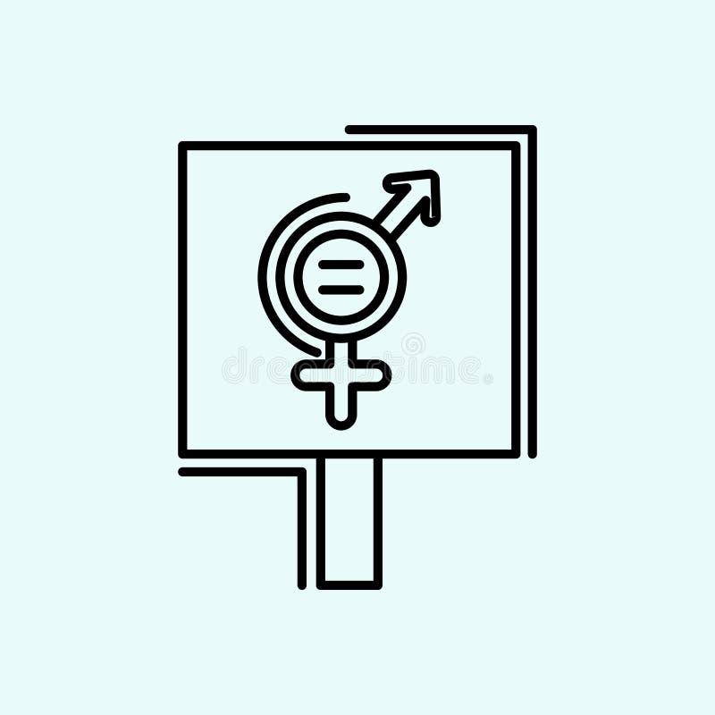 διαμαρτυρία, Αφροδίτη, θηλυκό, εικονίδιο femenine Στοιχείο του φεμινισμού για το κινητό εικονίδιο έννοιας και Ιστού apps Περίληψη ελεύθερη απεικόνιση δικαιώματος