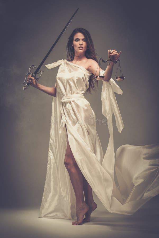 Femida, θεά της δικαιοσύνης στοκ φωτογραφία