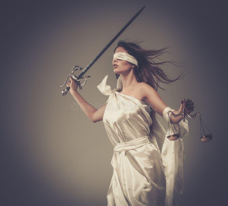 Femida, dea di giustizia fotografia stock libera da diritti