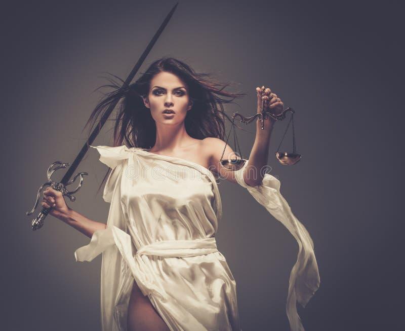 Femida, Göttin von Gerechtigkeit lizenzfreies stockbild