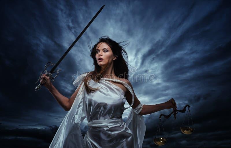 Femida, Godin van Rechtvaardigheid royalty-vrije stock foto
