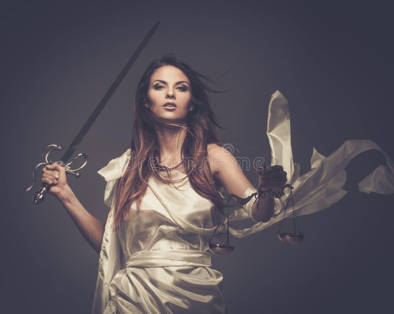 Femida, Godin van Rechtvaardigheid royalty-vrije stock afbeeldingen