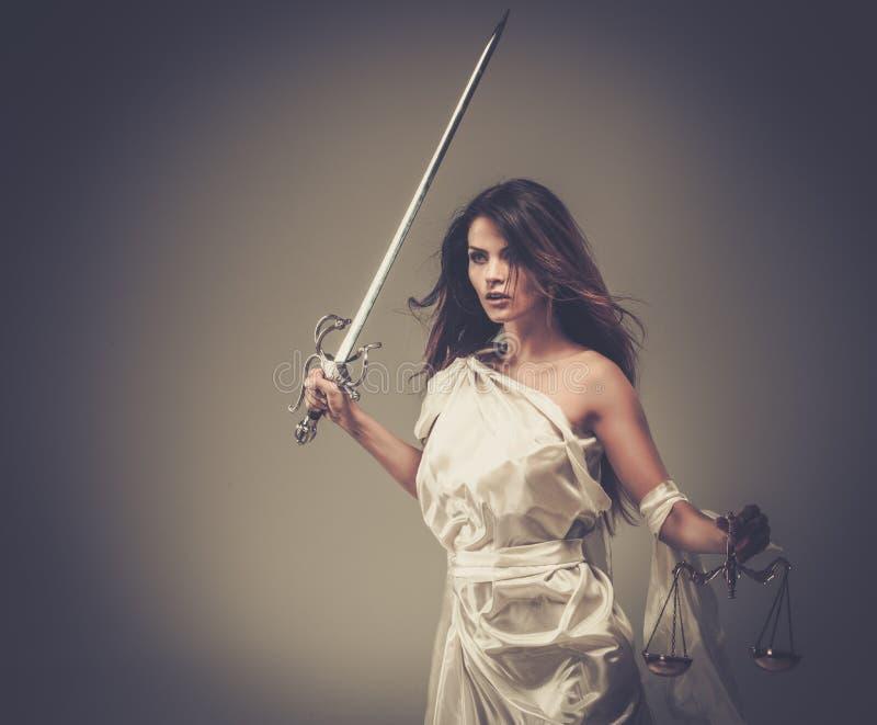 Femida gudinna av rättvisa royaltyfri foto