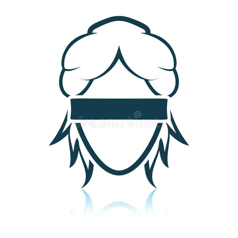 Femida head icon. Shadow reflection design. Vector illustration vector illustration