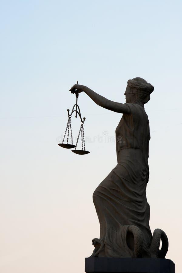 Femida sculpture. Simbol of justis stock photos
