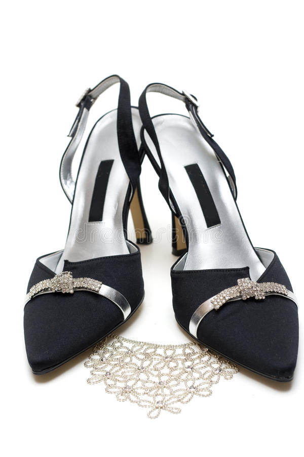 Download Feminine Black Loafers And Necklace Stock Photo - Image: 12258416