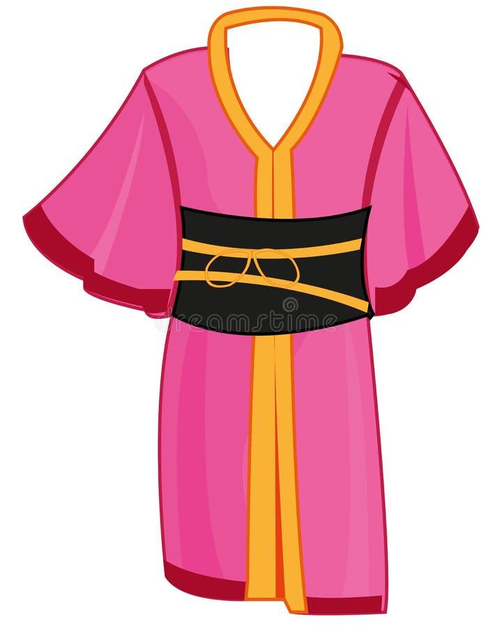 Feminine cloth kimono on white background insulated. Vector illustration of the national japanese feminine cloth kimono vector illustration