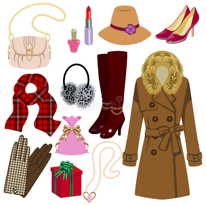 Download Feminine Fashion Item,Winter And Autumn Stock Vector - Image: 34262703
