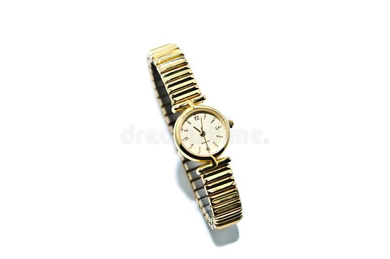 Feminine Gold Watch for Women royalty free stock photos