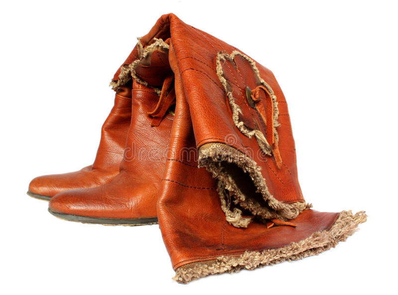 Feminine Leather Boots Royalty Free Stock Images