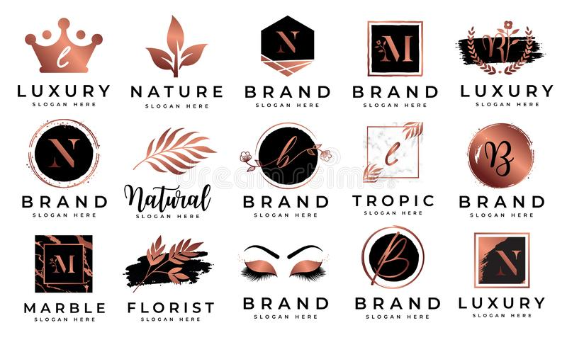 Feminine logo collections template vector stock image