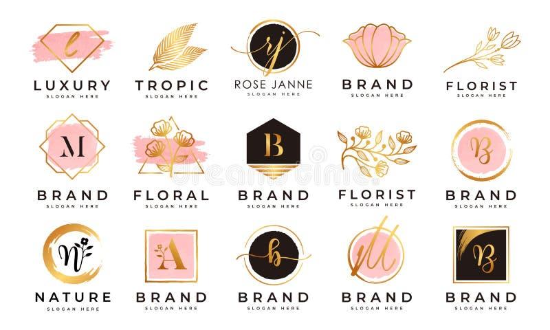 Feminine logo collections template vector royalty free stock photos