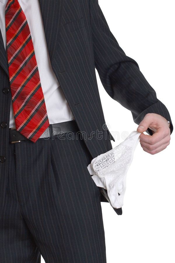 Download A Feminine Panties In A Pocket The Trousers Stock Image - Image: 4192699