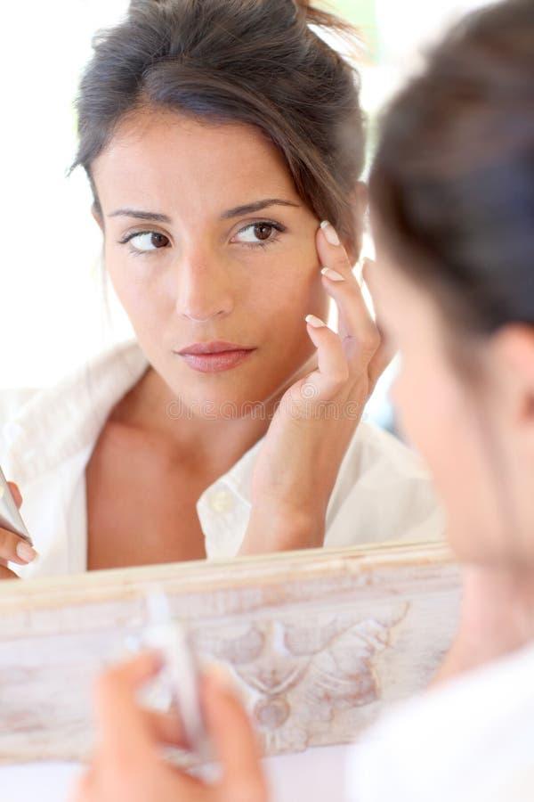 Download Femininity stock photo. Image of cosmetics, aging, mirror - 24217618