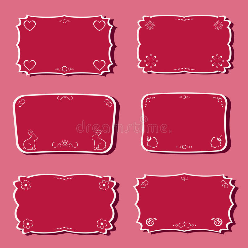 Download Femininity frames set. stock vector. Image of traditional - 20007502