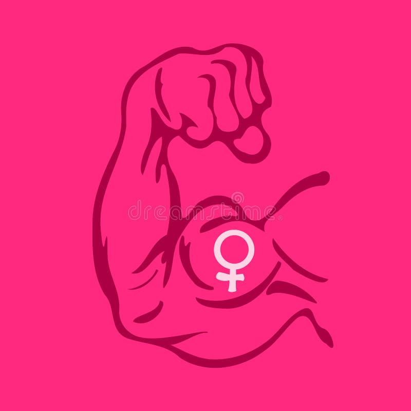 feminism vektor illustrationer