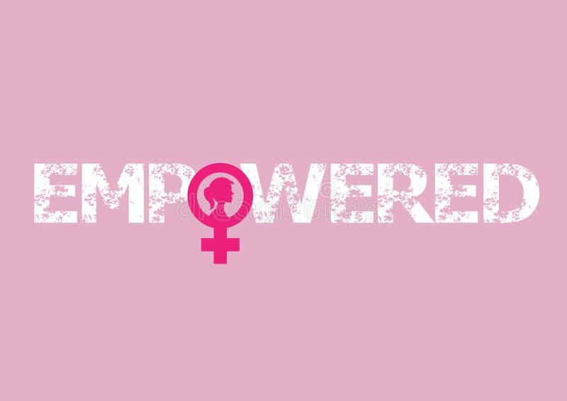 feminism Kvinnlig internationell rörelse stock illustrationer