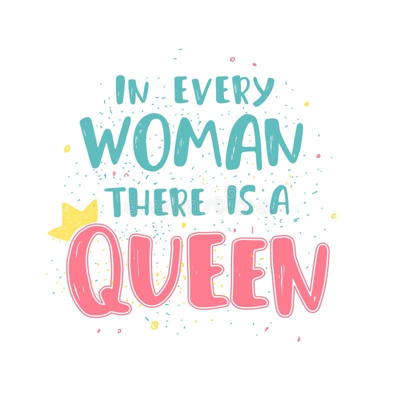 Feministiskt bokstävercitationstecken stock illustrationer