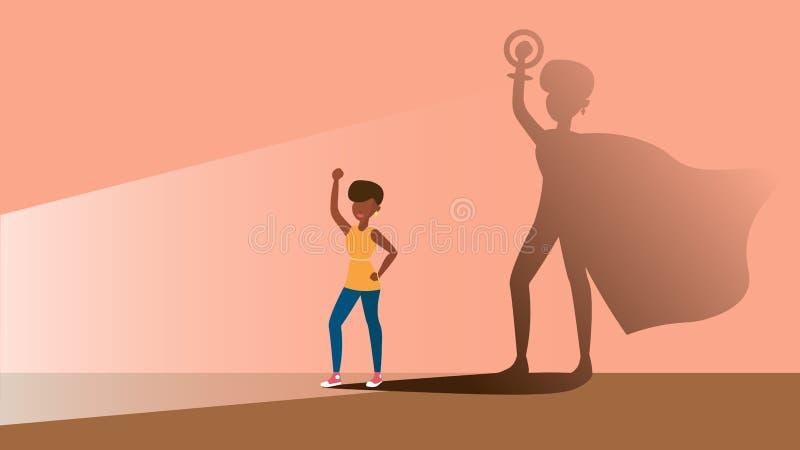 Feminizm super kobieta ilustracja wektor