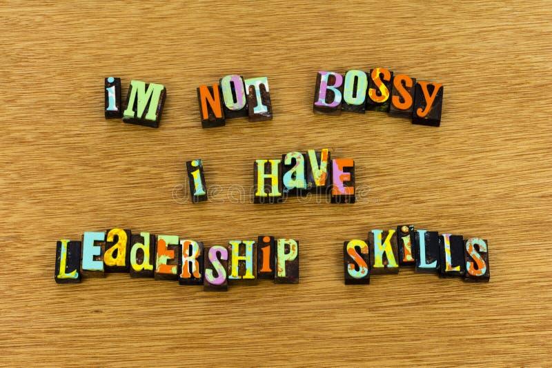 Feminizmu przywódctwo umiejętności damy bossy letterpress zdjęcie royalty free