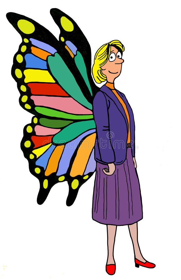 Femme à ailes illustration stock