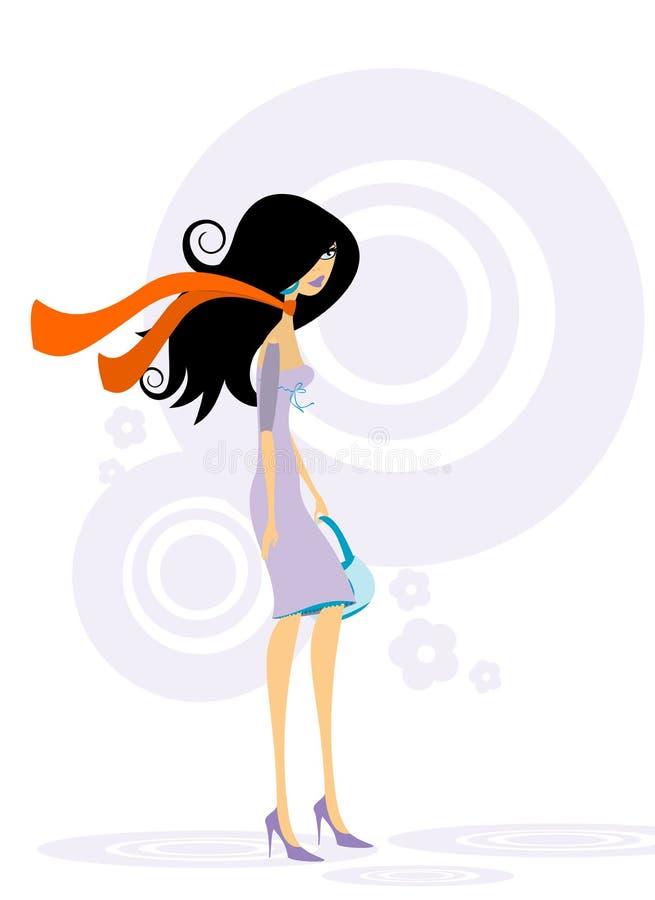 Femme à la mode illustration de vecteur