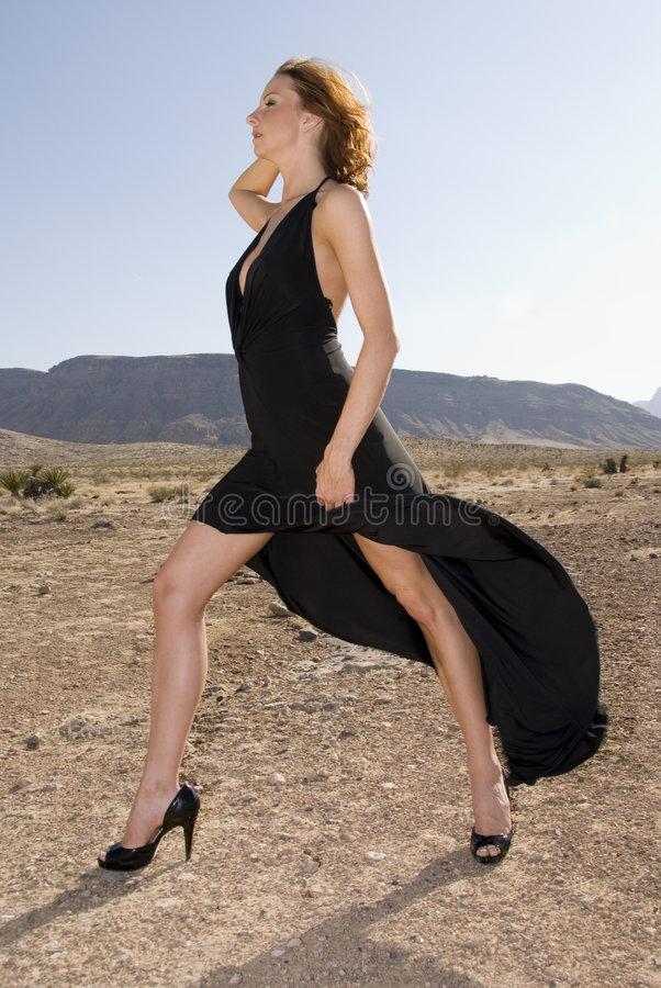 Femme à la mode grande photographie stock