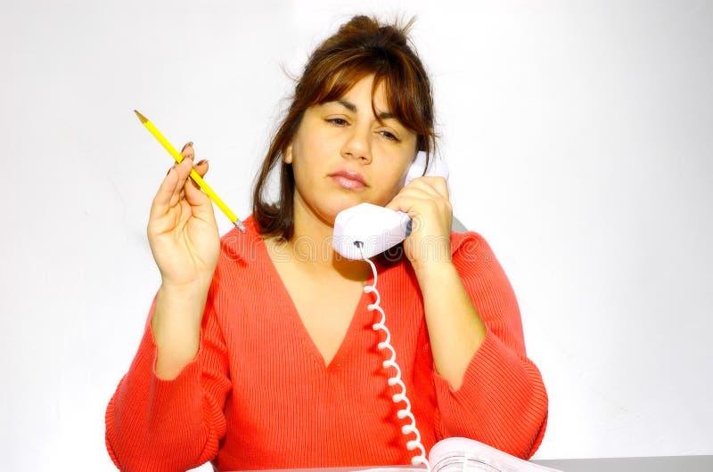Femme à son bureau 2 photographie stock libre de droits