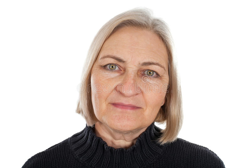 Femme âgé moyen souriant photo libre de droits