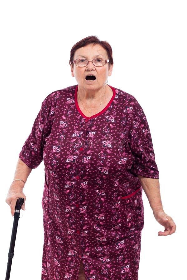 Femme âgée étonnée images libres de droits