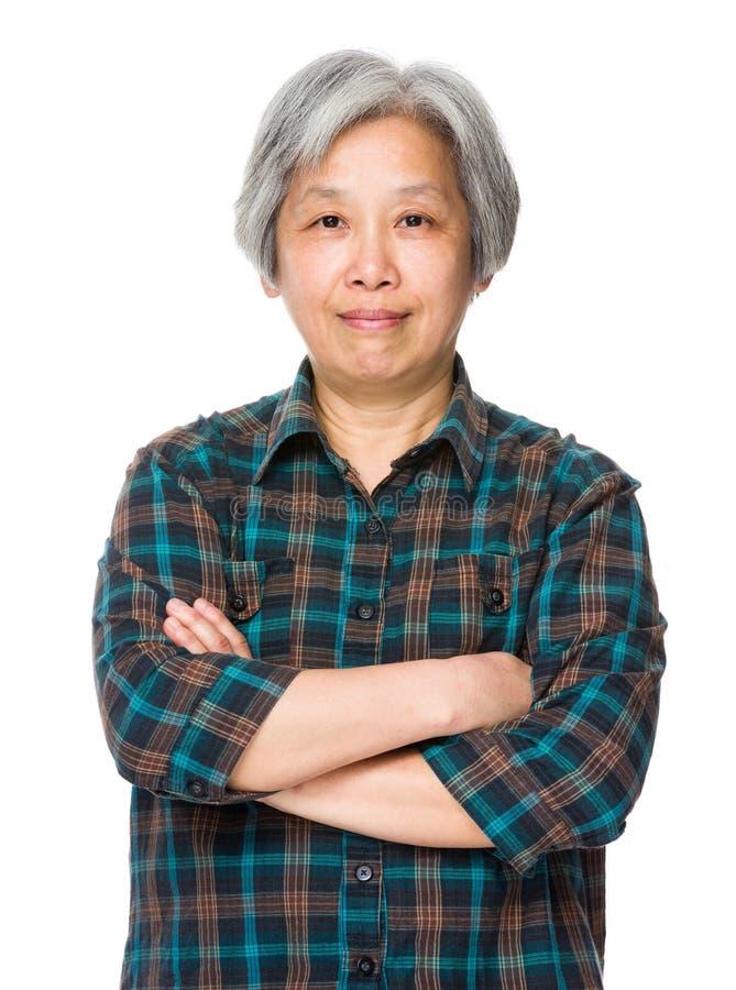 Femme âgée asiatique images stock