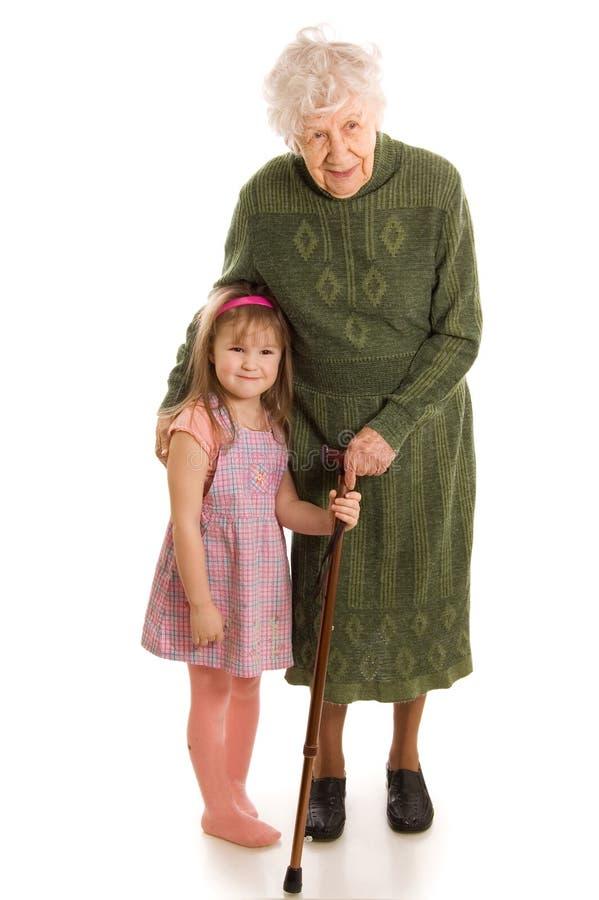 Femme âgée avec la petite-fille photo libre de droits