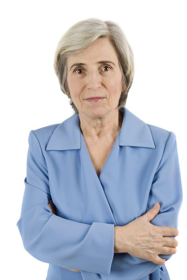 femme âgée d'affaires image libre de droits