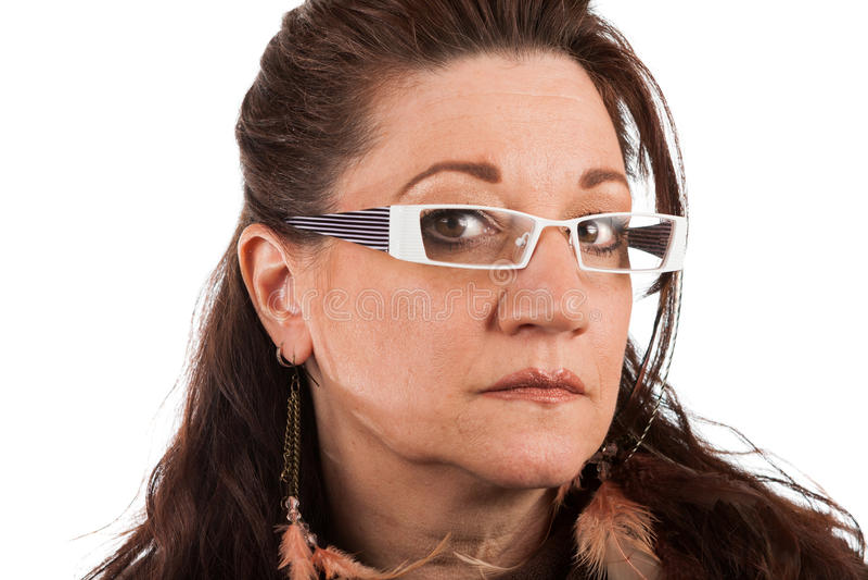 Femme âgée par milieu sérieux photo libre de droits