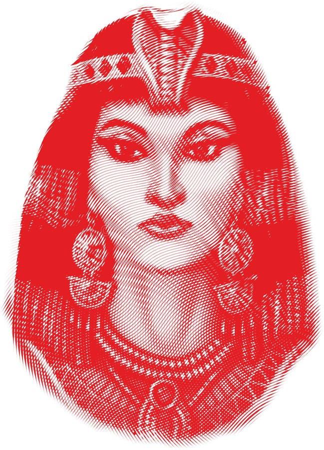femme égyptienne antique images stock
