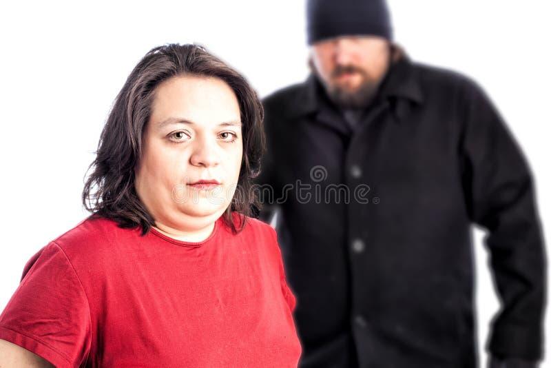 Femme étant assaillie photos stock
