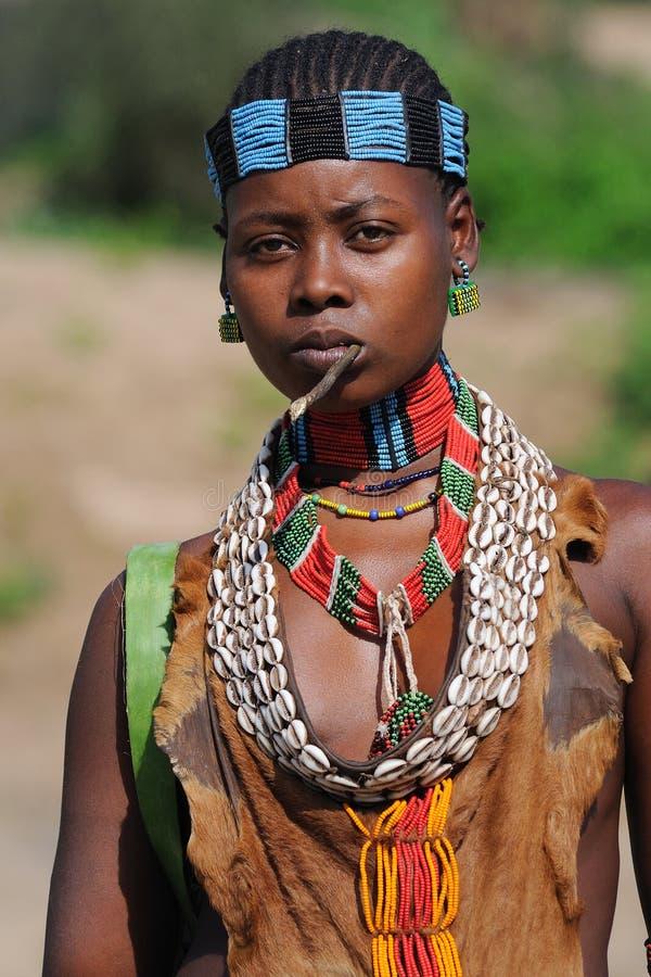 Femme éthiopienne de Benna image stock