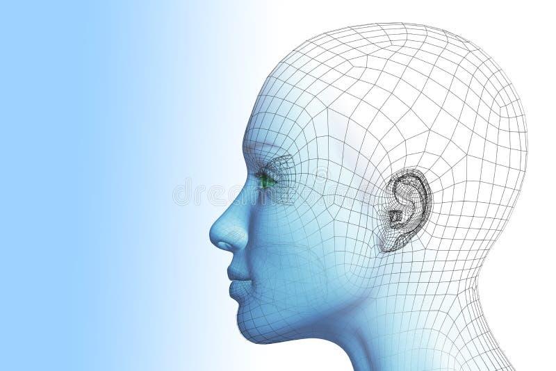 femme 3D illustration de vecteur