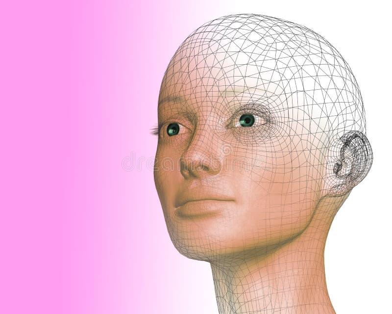 femme 3D illustration stock