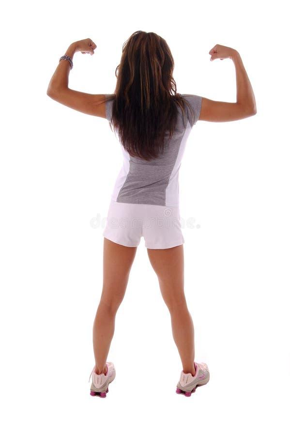 Femme 7 de séance d'entraînement images stock