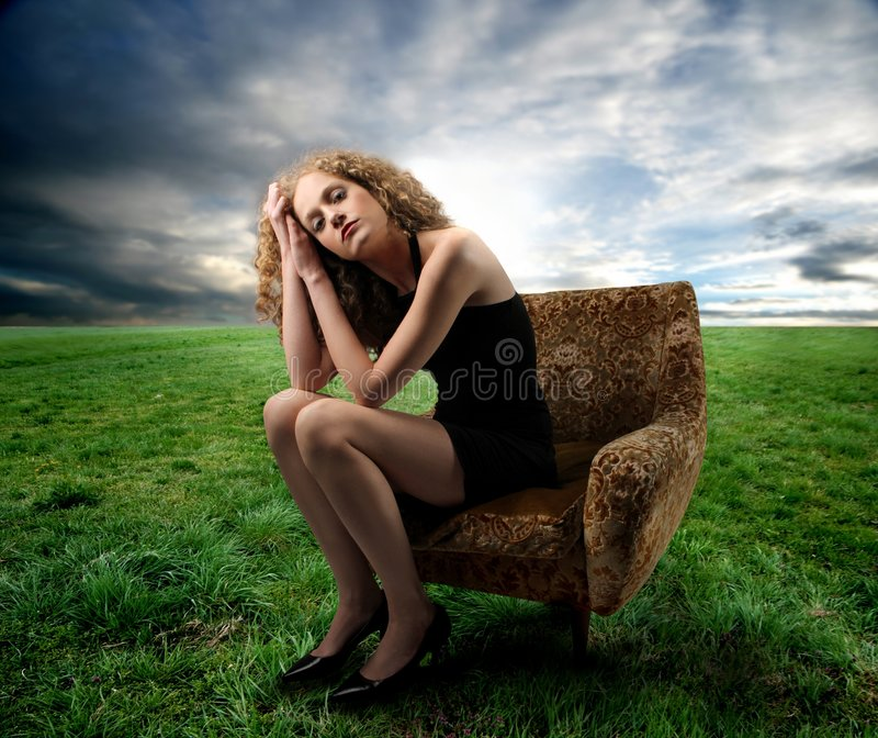 Femme photographie stock
