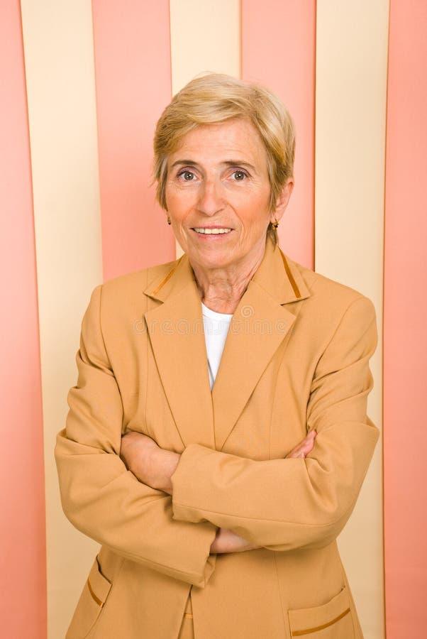 Femme aînée d'affaires photo libre de droits