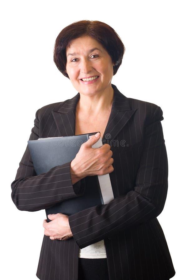 Femme aînée d'isolement photographie stock