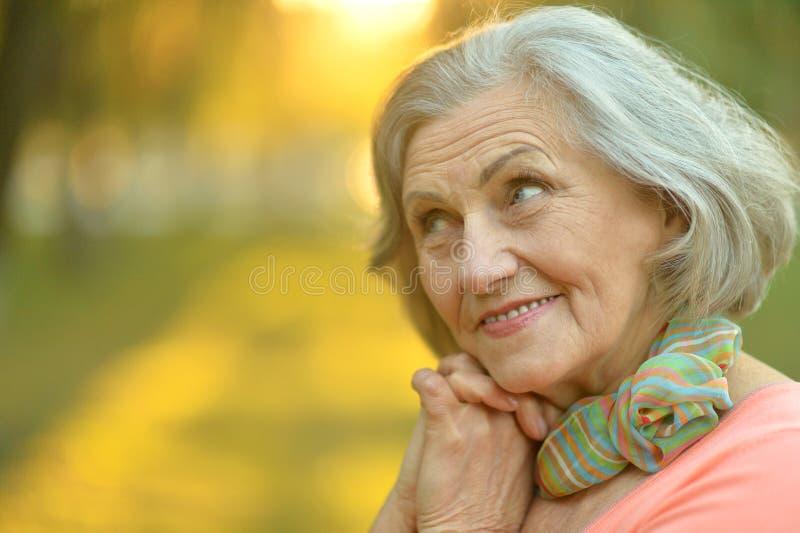 Download Femme Aînée En Stationnement D'automne Photo stock - Image du âgé, dame: 76081518