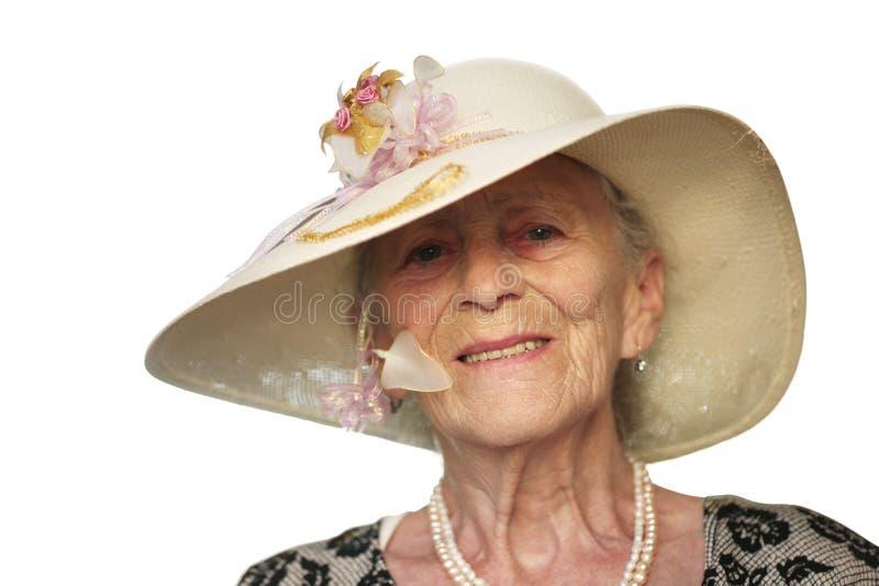 Femme aînée heureuse photographie stock