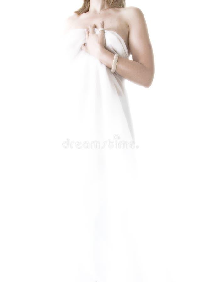 Femme abstrait dans le blanc photographie stock libre de droits