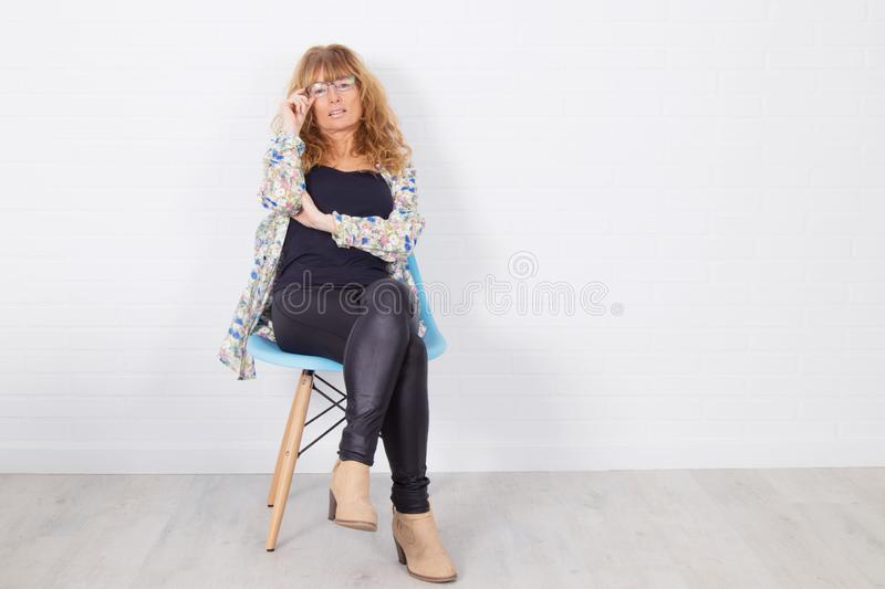 Femme adulte à la mode photo stock